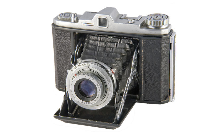 Uitstekende Vouwende Camera stock fotografie