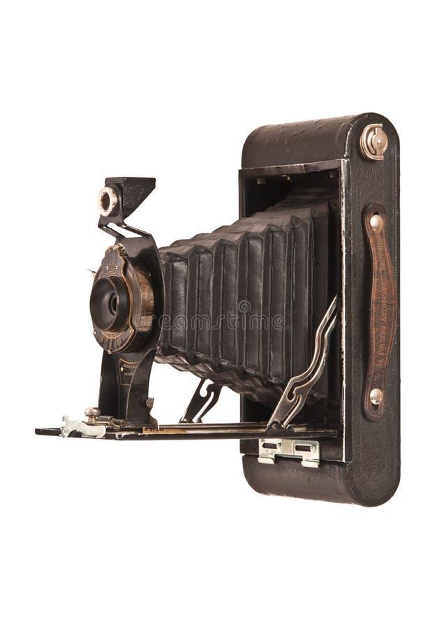 Uitstekende vouwende camera royalty-vrije stock afbeelding