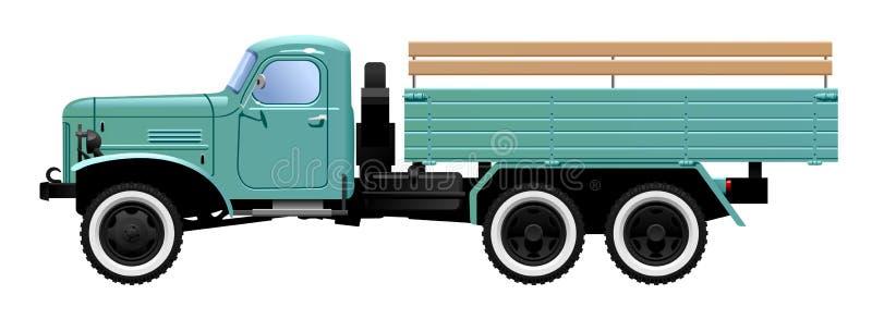 Uitstekende vrachtwagen stock illustratie