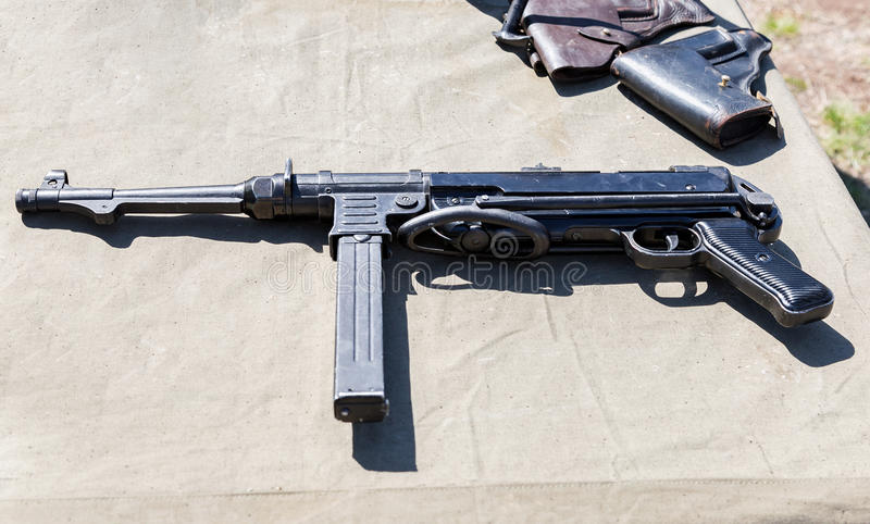 Uitstekende vuurwapens Duits machinepistool royalty-vrije stock afbeelding
