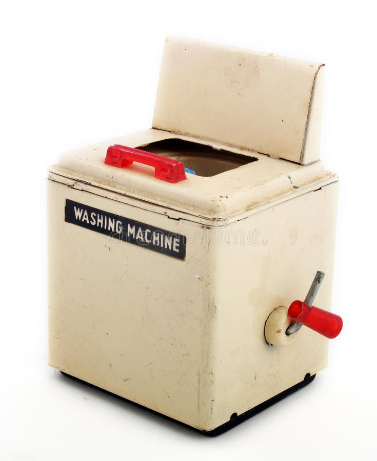 Uitstekende wasmachines stock afbeeldingen