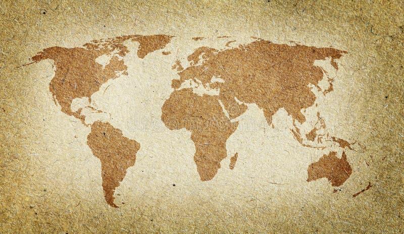 Uitstekende wereldkaart stock illustratie