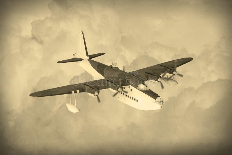 Uitstekende Wereldoorlog 2 vliegende boot stock afbeeldingen