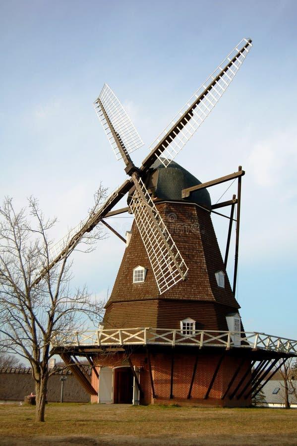 Uitstekende Windmolen royalty-vrije stock afbeelding