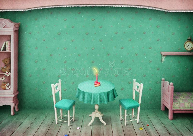 Uitstekende Zaal achtergrond royalty-vrije illustratie