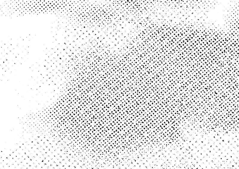 Uitstekende zwart-witte krassen abstracte lay-out als achtergrond stock illustratie