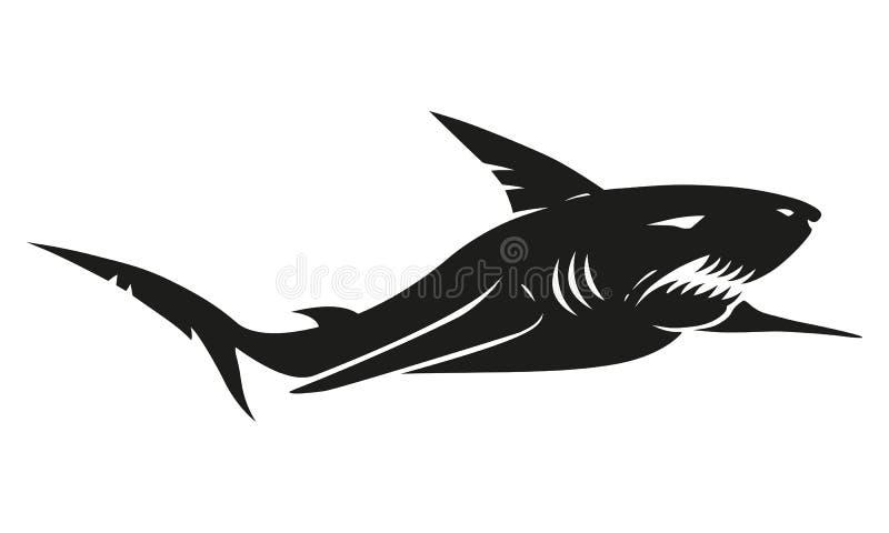 Uitstekende zwarte haai royalty-vrije illustratie