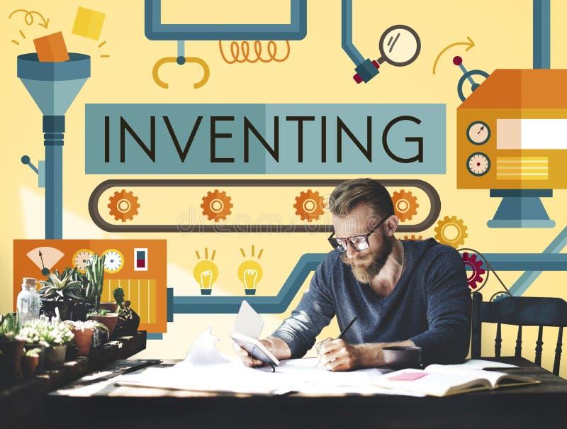 Uitvindend Innovatie creeer Creatief Procesconcept stock afbeeldingen