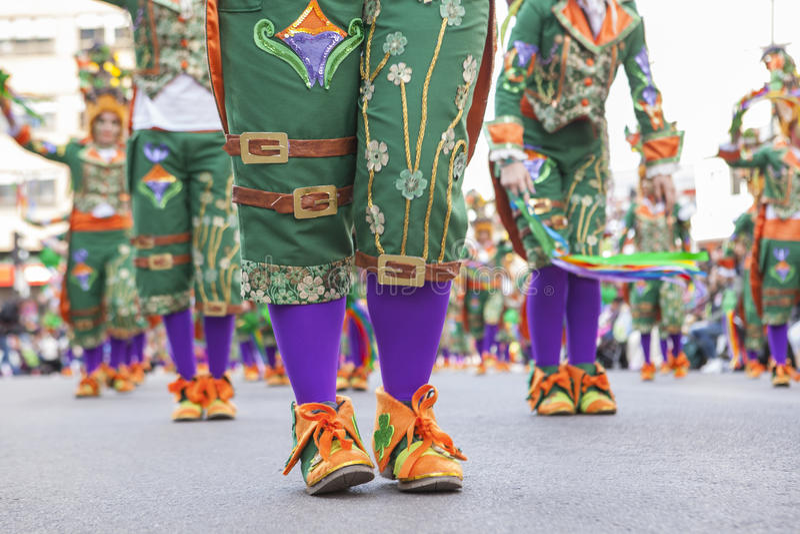 Uitvoerdersschoenen in Carnaval stock afbeeldingen