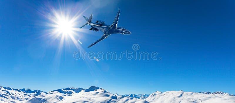 Uitvoerend vliegtuig in vlucht royalty-vrije stock foto's