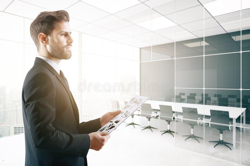 Uitvoerend wachten voor vergadering vector illustratie