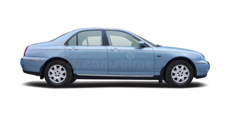 Uitvoerende Britse auto Rover 75 stock foto's