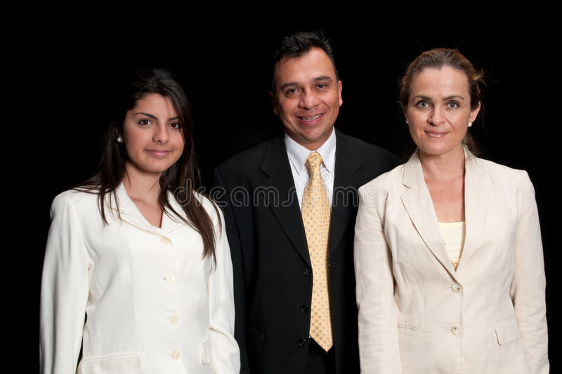 Uitvoerende team en secretaresse stock afbeelding