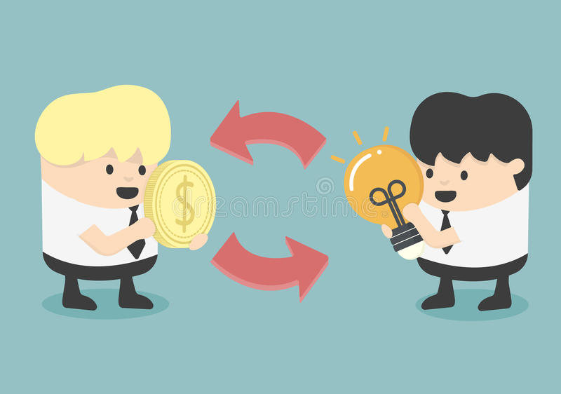Uitwisseling en handel stock illustratie