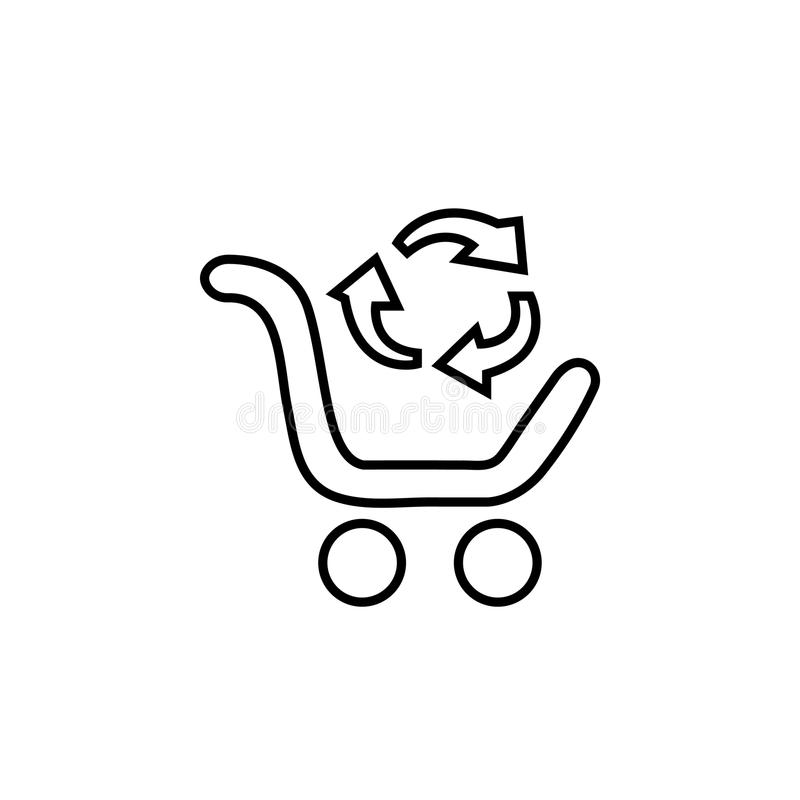 Uitwisseling van goederen vector illustratie