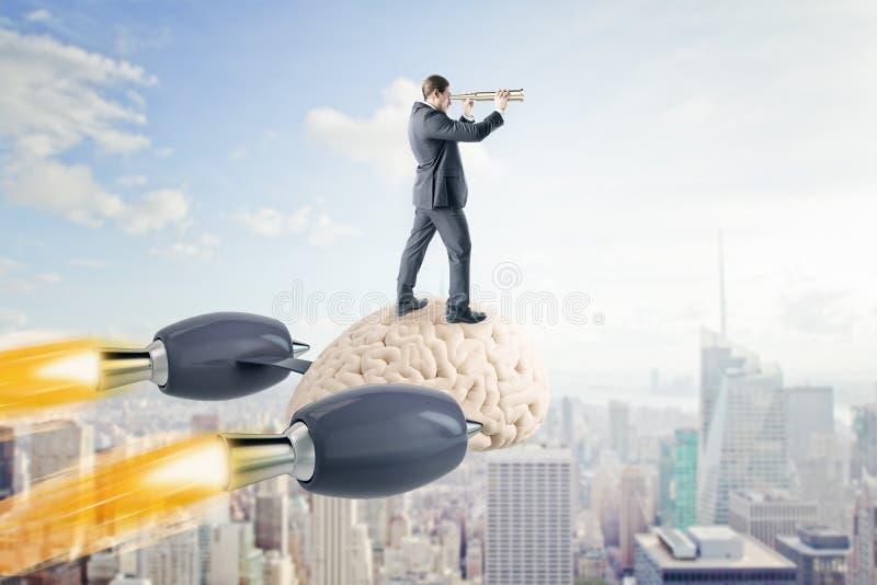 Uitwisseling van ideeën en onderzoekconcept stock illustratie
