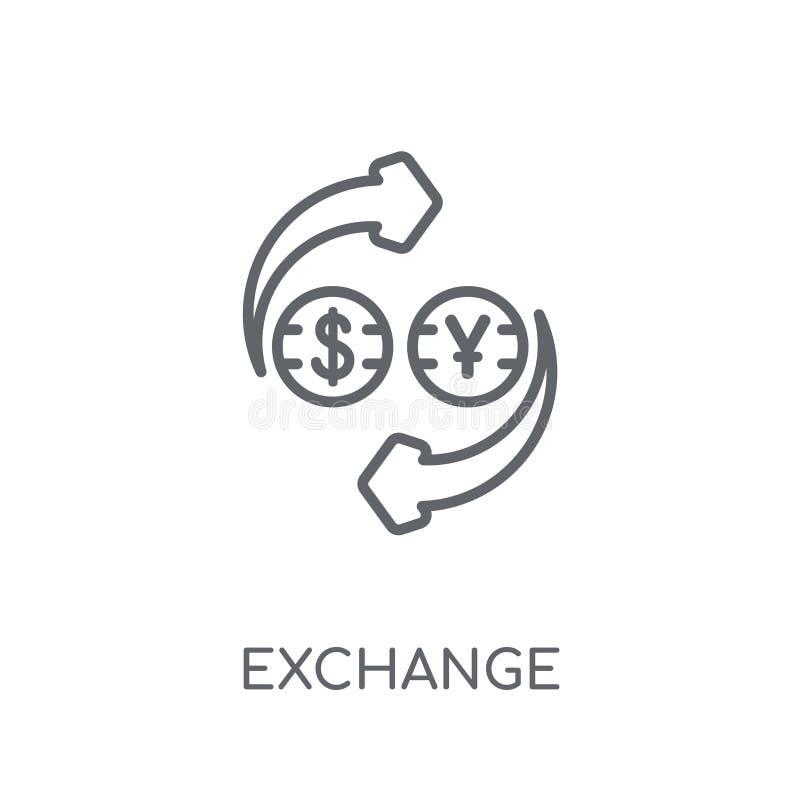 Uitwisselings lineair pictogram Modern het embleemconcept van de overzichtsuitwisseling op wh stock illustratie