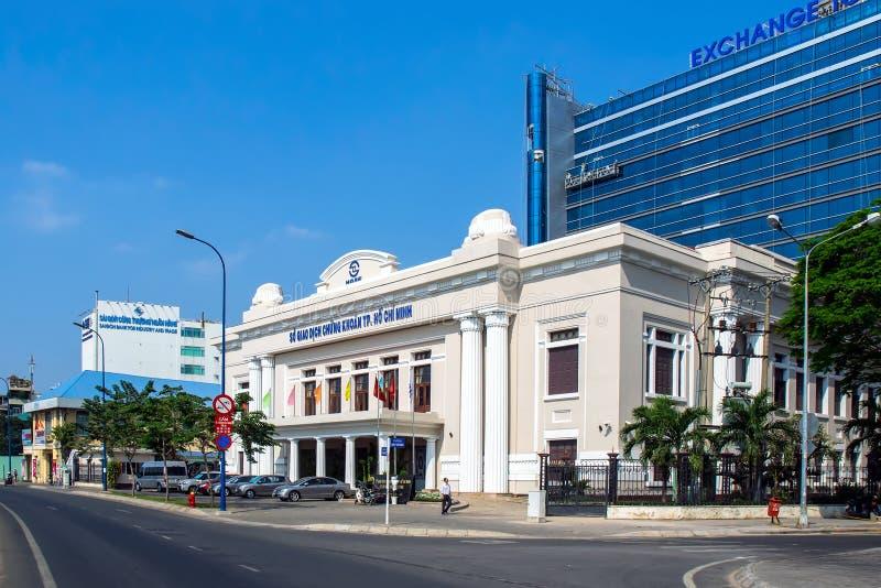 Uitwisselingstoren in Ho-Chi-Minh-Stad, Vietnam stock afbeelding