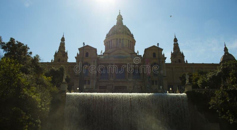 Uitzicht Montjuic x Llacuno-films royalty-vrije stock foto
