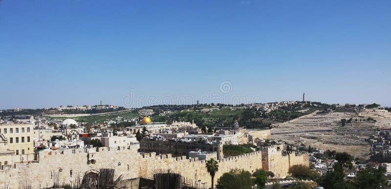 Uitzonderlijke Mening Jeruzalem royalty-vrije stock afbeelding