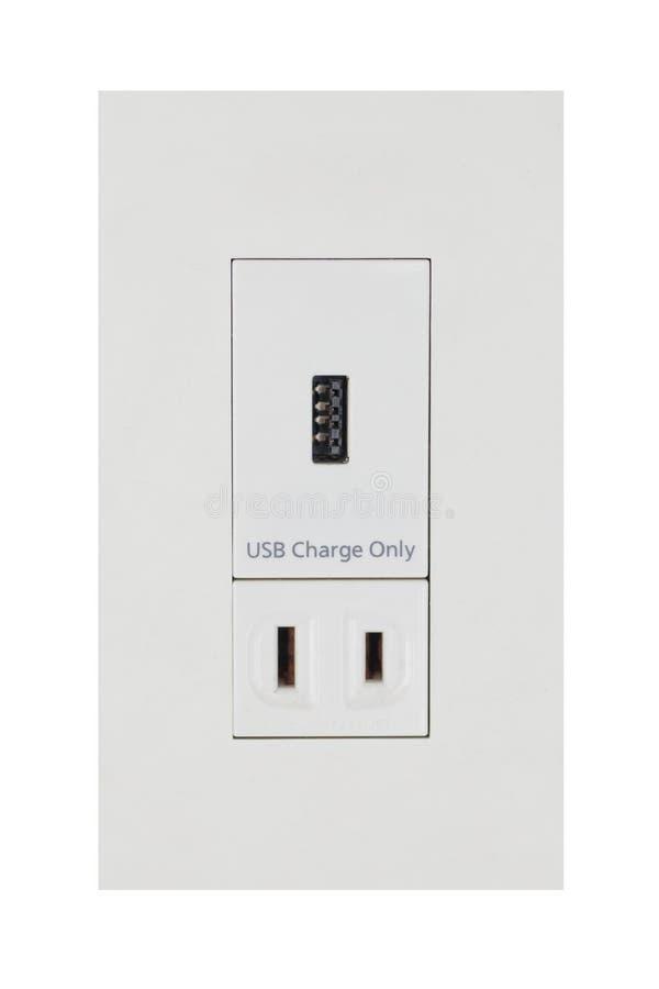 Ujście dla komputeru i telefonu komórkowego USB ładować zdjęcie stock