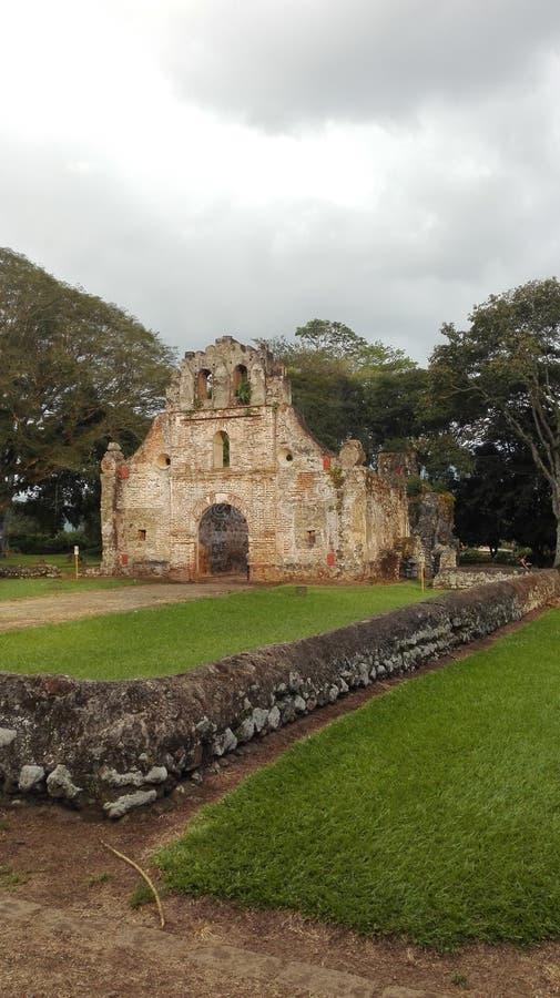 Ujarrà ¡ s fördärvar, Costa Rica royaltyfri fotografi