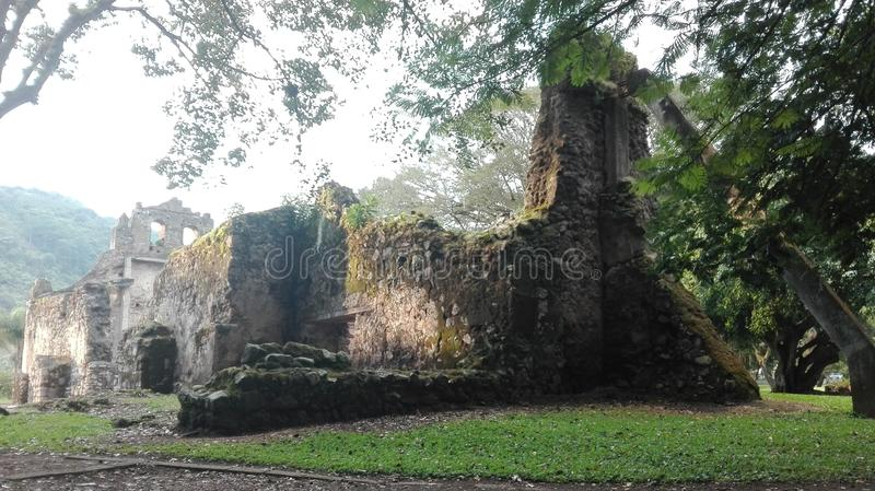 Ujarrà ¡ s fördärvar, Costa Rica royaltyfria bilder