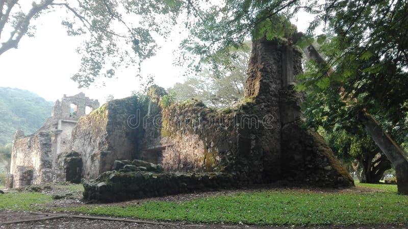 Ujarrà ¡ s ruiny, Costa Rica obrazy royalty free