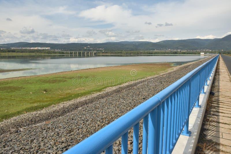 Ujezd dam near czech city of Chomutov on end of summer on 8th september 2019 stock image