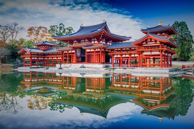 Uji,京都,日本-著名Byodo在佛教寺庙,联合国科教文组织Wo 免版税库存图片