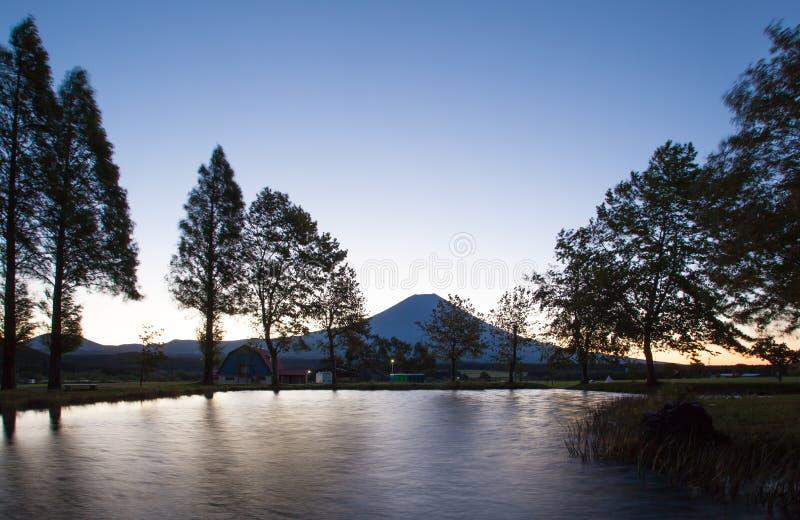 Uji-Diamant, Sonnenaufgang an der Spitze des Berges Fuji lizenzfreies stockbild