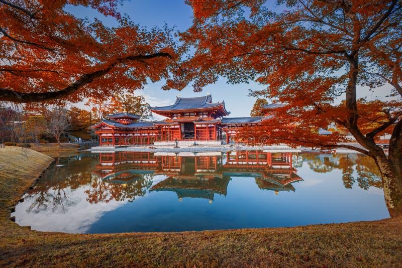 Uji, Kyoto, Japonia - sławny W Buddyjskiej świątyni zdjęcie royalty free