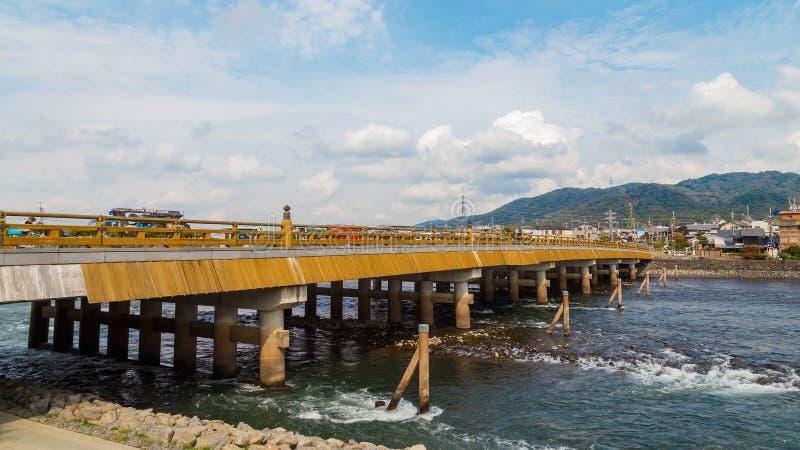 Uji most w Kyoto zdjęcie royalty free