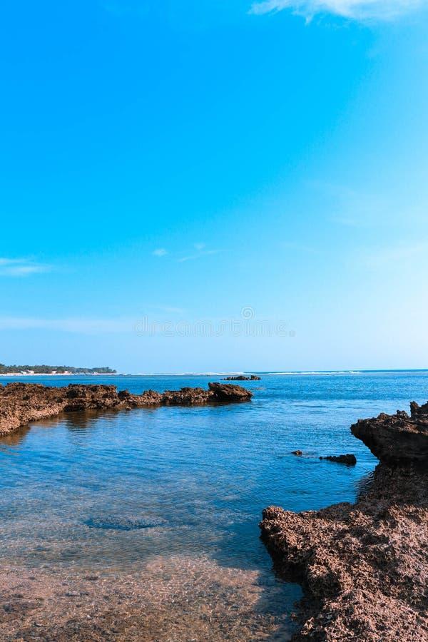Ujung genteng beach wallpaper. In this photos was taken at ujung genteng beach in indonesia royalty free stock photo