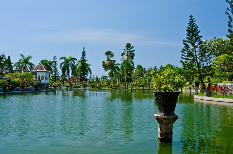 Ujung wody pałac showplace w Karangasem regenci Bali, Indone obraz royalty free