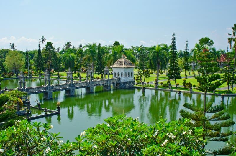 Ujung wody pałac showplace w Karangasem regenci Bali, Indone obraz stock