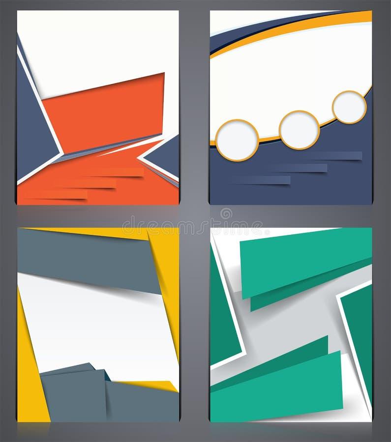 Układ biznesowe broszurki, ulotka projekta szablon w A4 rozmiarze lub okładka magazynu, abstrakcjonistyczni nowożytni tła royalty ilustracja