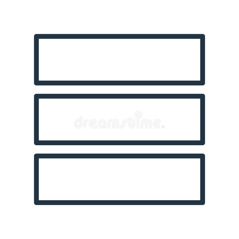 Układ ikony wektor odizolowywający na białym tle, układu znak royalty ilustracja