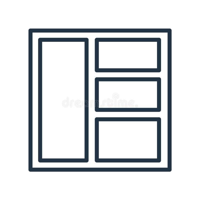 Układ ikony wektor odizolowywający na białym tle, układu znak ilustracja wektor