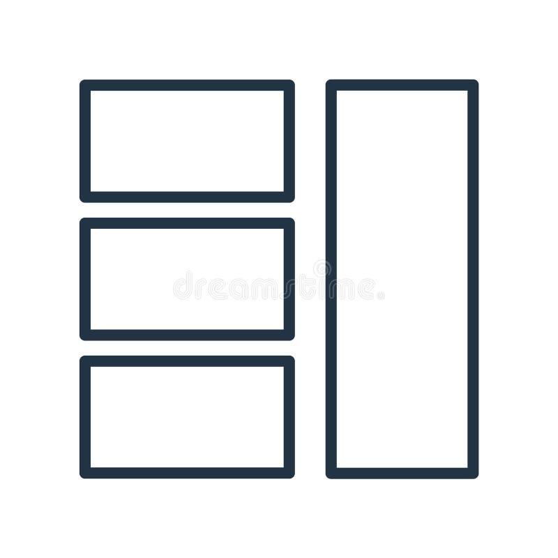 Układ ikony wektor odizolowywający na białym tle, układu znak ilustracji