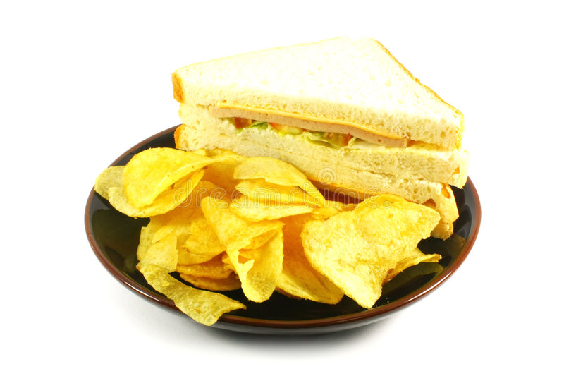 układ scalony combo posiłku kanapka obraz stock