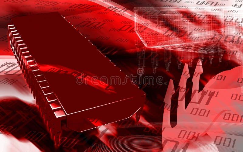 układ scalony komputer ilustracja wektor