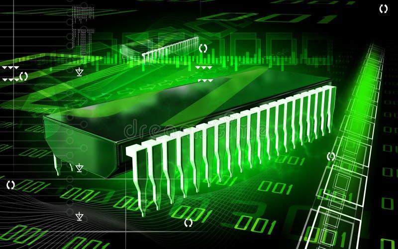układ scalony komputer ilustracji