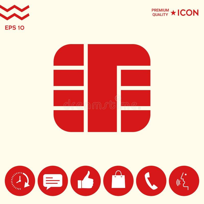 Układ scalony kredytowej karty ikona royalty ilustracja