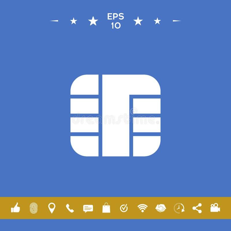 Układ scalony kredytowej karty ikona ilustracja wektor