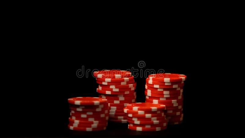 Układ scalony sterty odizolowywać na czerni, bezprawny uprawia hazard biznes, ryzykowny zakładać się, kasyno obrazy royalty free