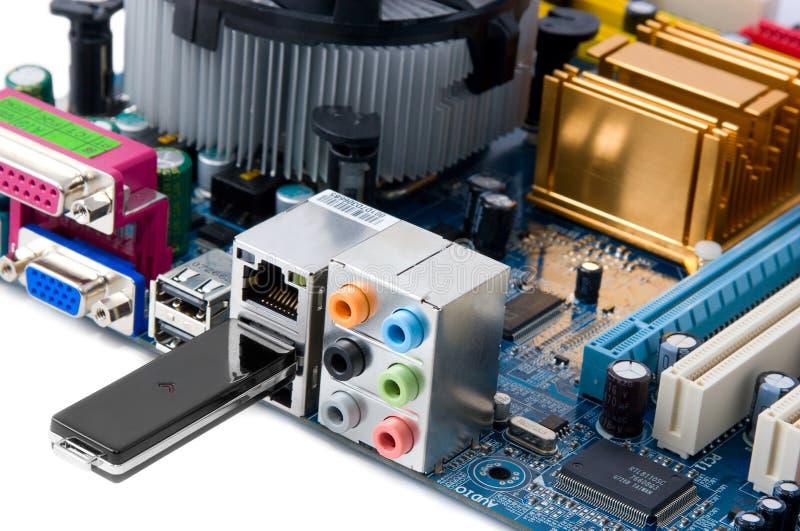 układ składowej jednostki prowadnikowy ewidencyjny usb fotografia stock