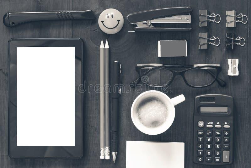 Układu biurowy biurko obrazy stock