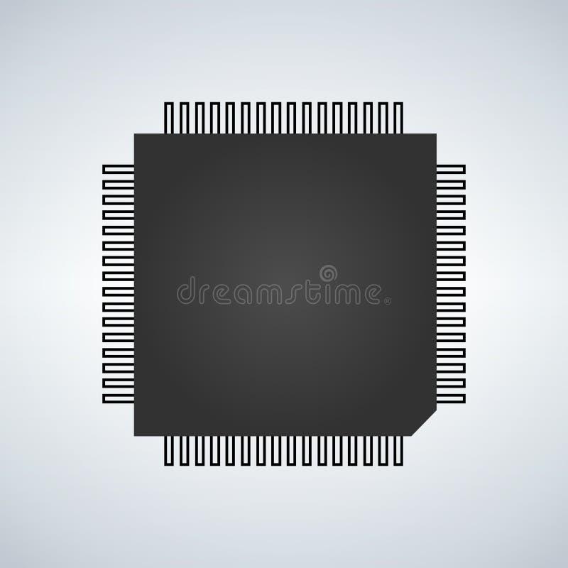 Układu scalonego procesoru ikona royalty ilustracja