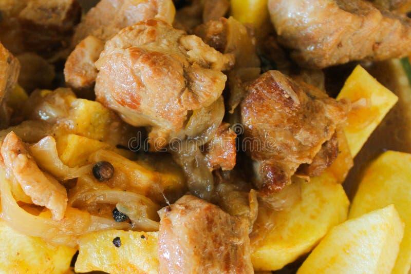 Układy scaleni i Mięsny stku mięsa baru naczynie zdjęcie stock